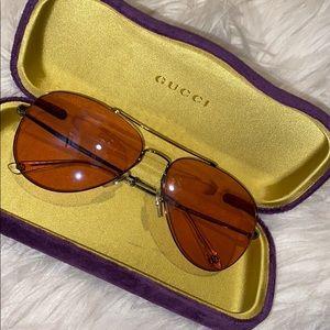 Gucci Aviators gg0500s 008 pink lenses
